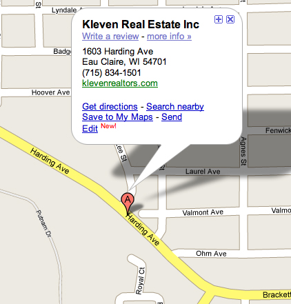 Eau Claire Real Estate Location